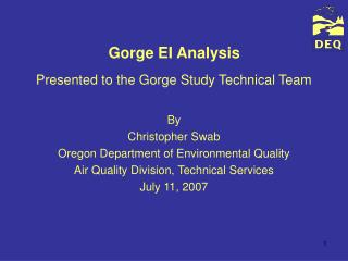 Gorge EI Analysis