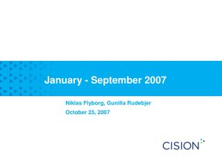 January - September 2007