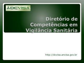 Diretório de Competências em Vigilância Sanitária