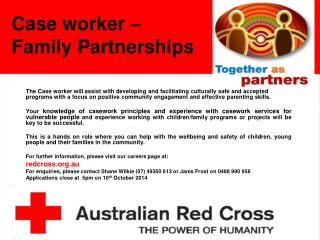 Case worker � Family Partnerships