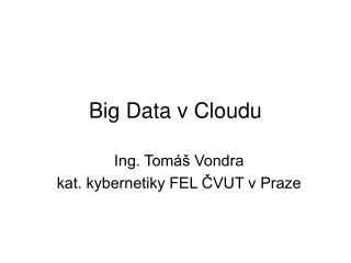 Big Data v Cloudu