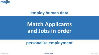 Match Applicants and Jobs in order