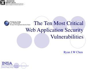 The Ten Most Critical Web Application Security Vulnerabilities