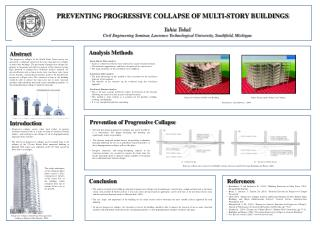 PREVENTING PROGRESSIVE COLLAPSE OF MULTI-STORY BUILDINGS