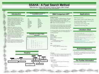 SSAHA - A Fast Search Method Meg Eckman, Kaitlyn McPartland, Nnenna Opara, Marni Siegel