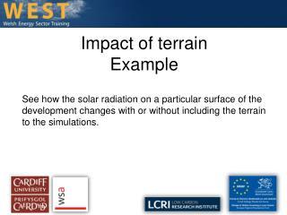 Impact of terrain Example