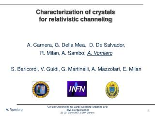 Characterization of crystals for relativistic channeling