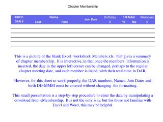 In this procedure, we begin at the Reports Page after logging into  eMembership .