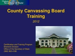 County Canvassing Board Training