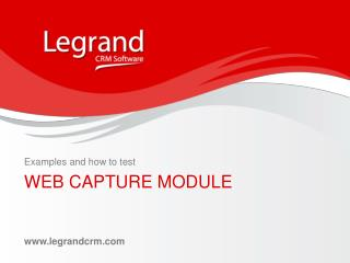 WEB CAPTURE MODULE