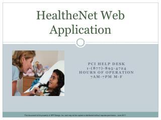 HealtheNet Web Application