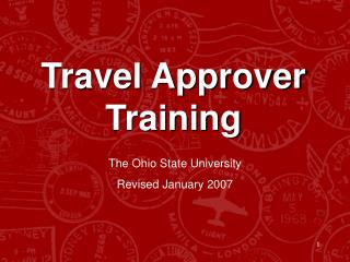 Travel Approver Training The Ohio State University