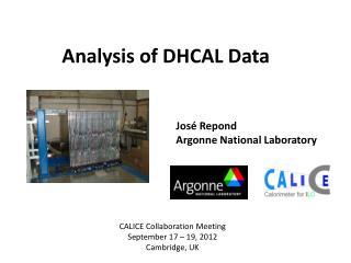 Analysis of DHCAL Data