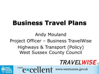 Business Travel Plans Andy Mouland