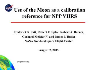 Use of the Moon as a calibration reference for NPP VIIRS