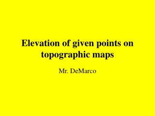 Elevation of given points on topographic maps