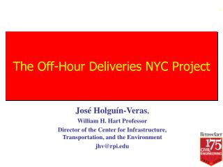 The Off-Hour Deliveries NYC Project