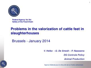 Problems in the valorization of cattle feet in slaughterhouses
