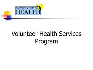Volunteer Health Services Program