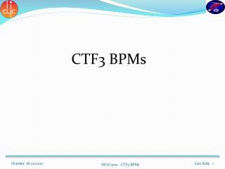 CTF3 BPMs