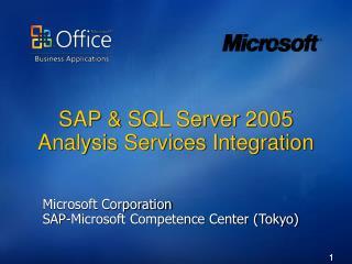 SAP  SQL Server 2005 Analysis Services Integration