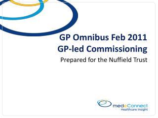 GP Omnibus Feb 2011 GP-led Commissioning