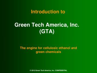 Green Tech America, Inc. (GTA)