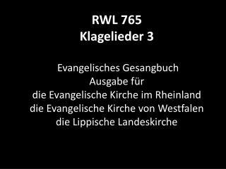 765 Klagelieder 3