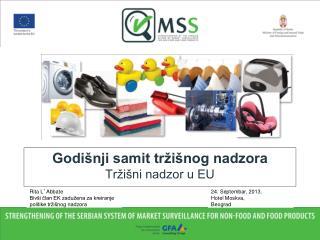 Godišnji samit tržišnog nadzora Tržišni nadzor u EU