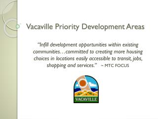 Vacaville Priority Development Areas