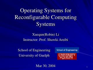 Operating Systems for  Reconfigurable Computing Systems