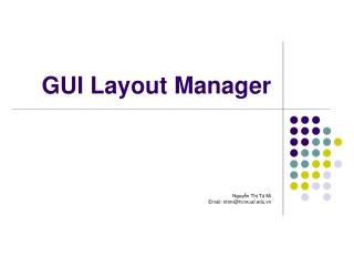 GUI Layout Manager