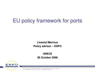 EU policy framework for ports