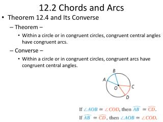 12.2 Chords and Arcs