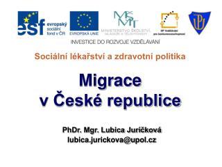 Sociální lékařství a zdravotní politika Migrace v České republice