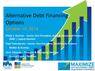 Alternative Debt Financing Options