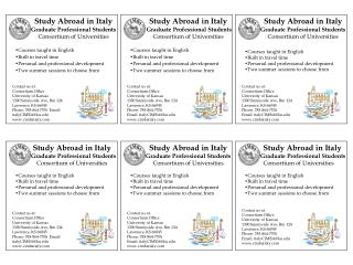 Study Abroad in Italy Graduate Professional Students Consortium of Universities