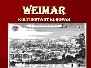Weimar Kulturstadt Europas