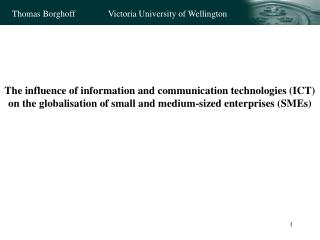 Existing research linking ICT to IM: