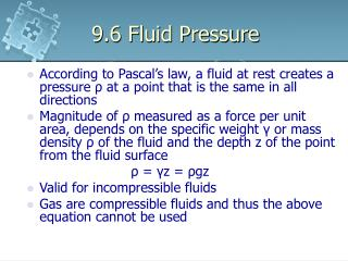9.6 Fluid Pressure