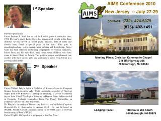 Meeting Place: Christian Community Chapel 211 US Highway 206       Hillsborough, NJ 08844