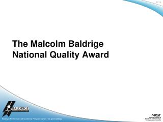 Baldrige Performance Excellence Program | nist/baldrige
