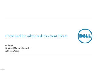 HTran and the Advanced Persistent Threat