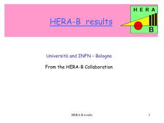HERA-B  results