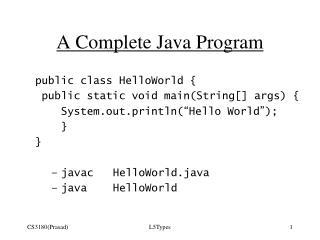 A Complete Java Program