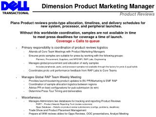 Dimension Product Marketing Manager Product Reviews