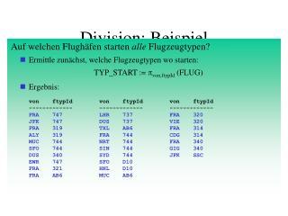 Division: Beispiel