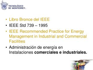 Libro Bronce del IEEE IEEE Std 739 – 1995