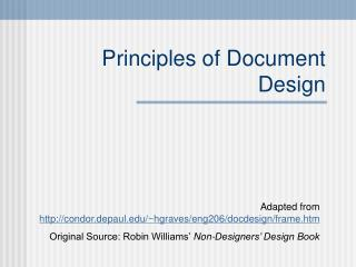 Principles of Document Design