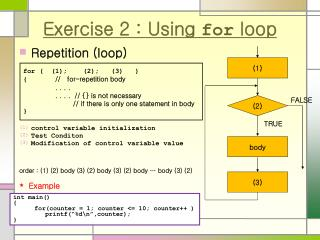 Exercise 2 : Using  for  loop